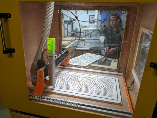 DIY Camper Van Conversion Upper Cabinets CNC Cabinet Doors 2