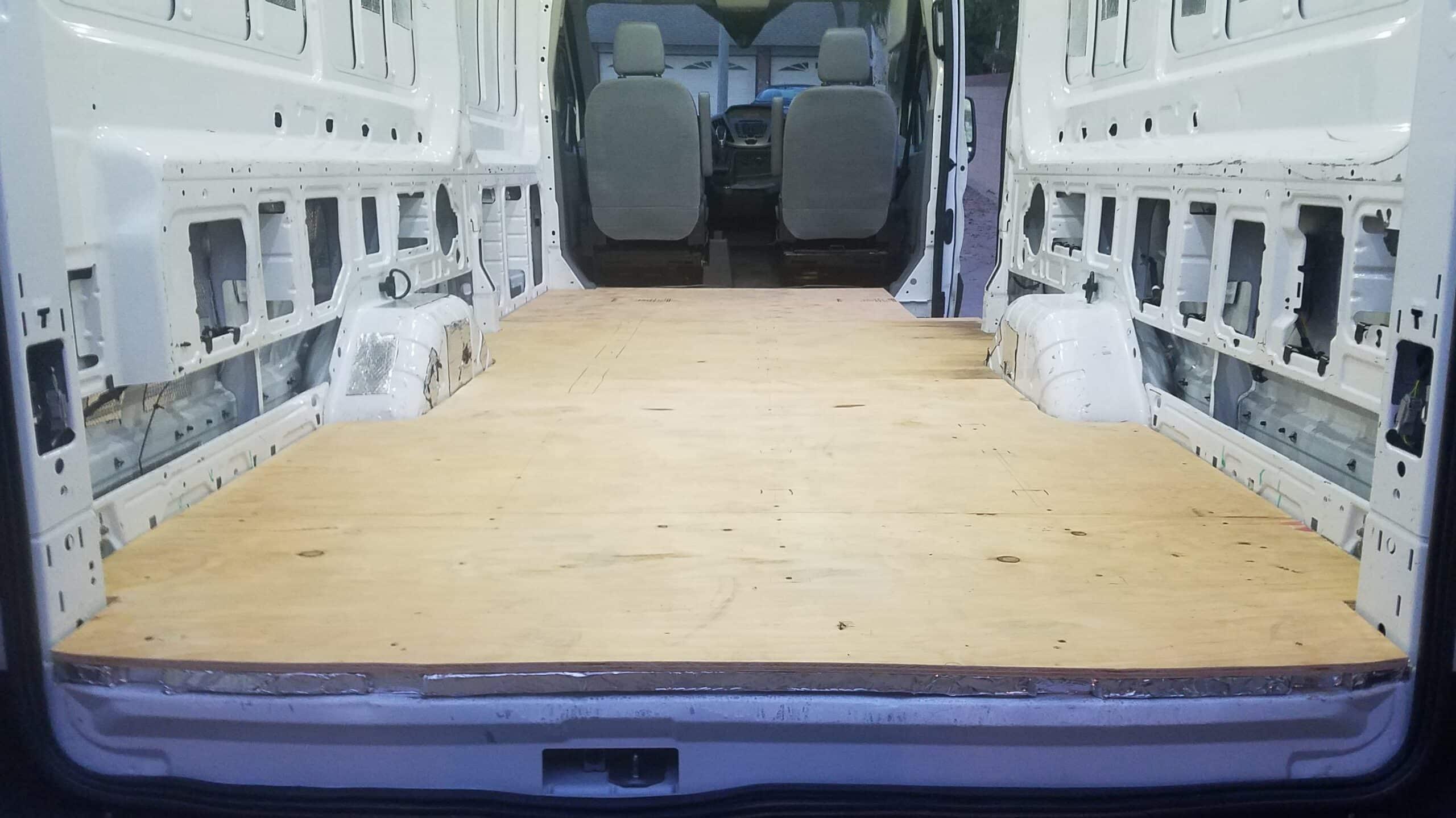 Installing Sub-Floor in Camper Van Conversion » VanConverts com