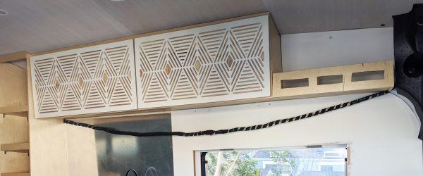 DIY Camper Van Conversion Upper Cabinets Ford Trans