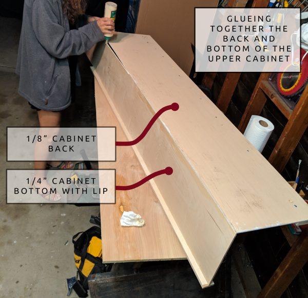 6 DIY Camper Van Conversion Upper Cabinets Glueing