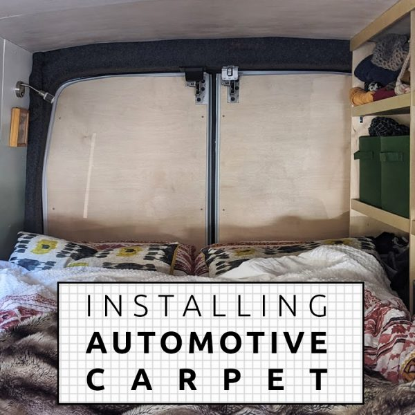 Automotive-Carpet-Onto-Camper-Van-Wall-Installation