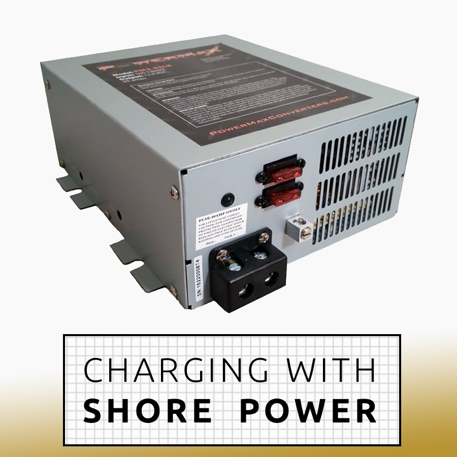 Charging With Shore Power DIY Camper Van Conversion