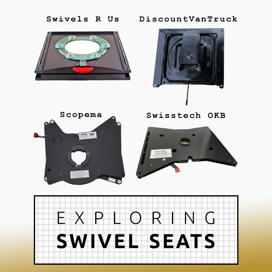 Choosing and Installing Passenger Swivel Seat DIY Camper Van Conversion