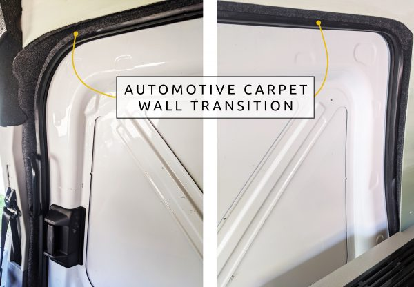 DIY CAMPER VAN CONVERSION AUTOMOTIVE CARPET WALL TRANSITION