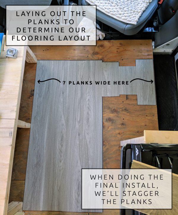 DIY Camper Van Conversion LVT VInyl Flooring Installation