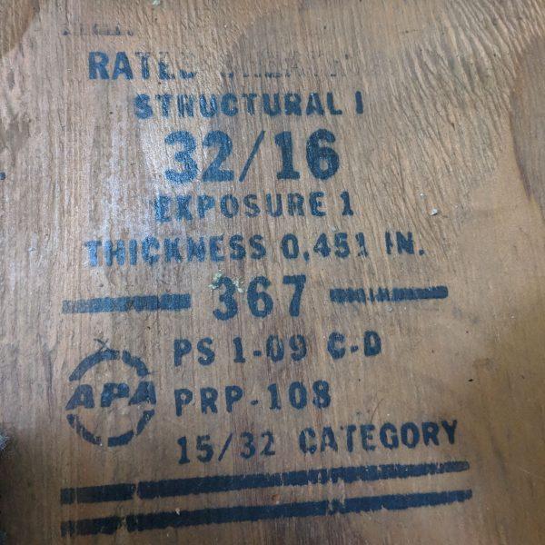 van plywood floor
