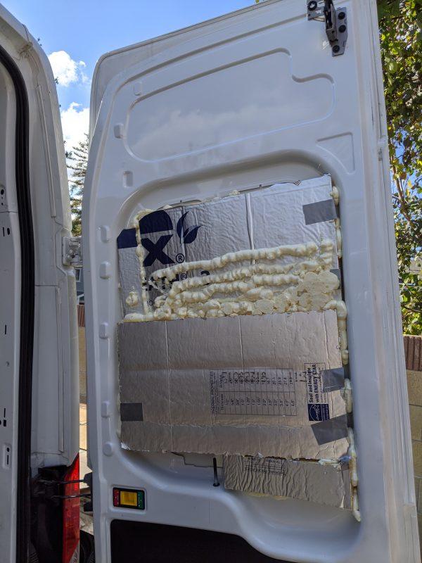Insulation Polyiso Back Door Camper Van Conversion