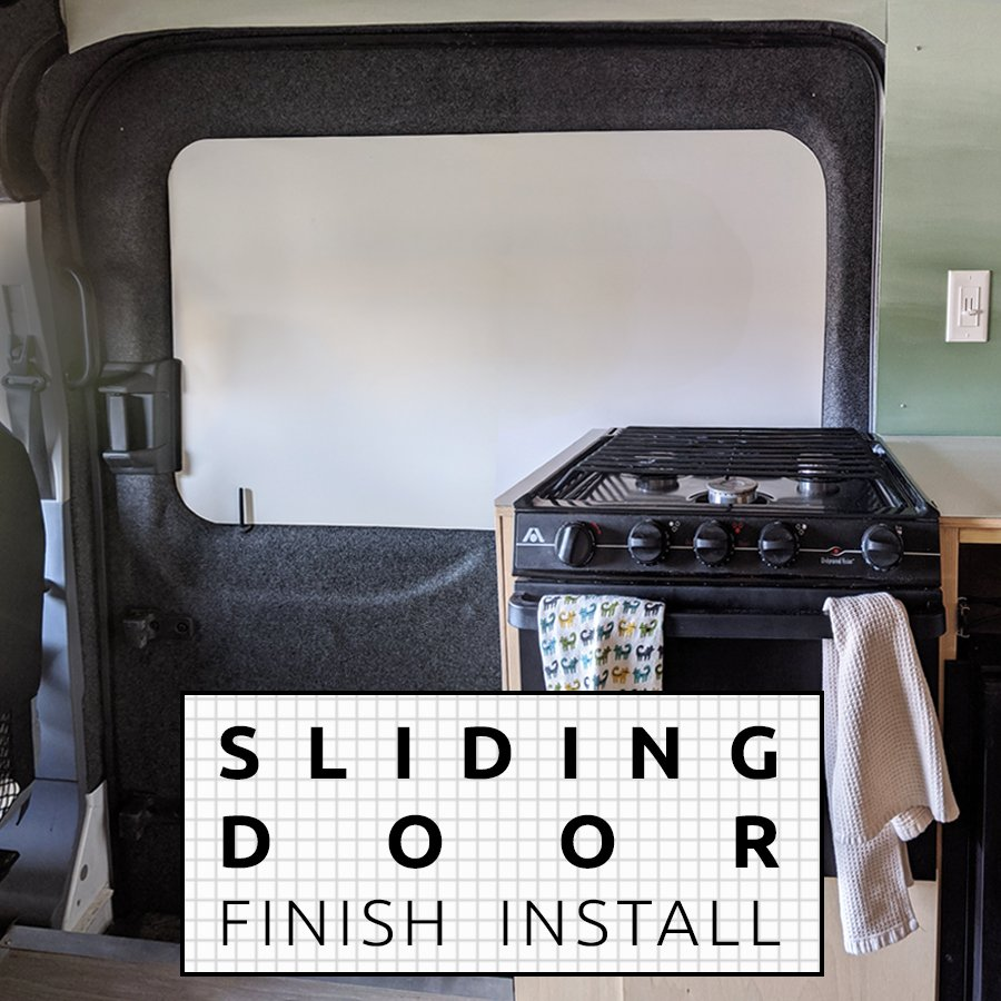Sliding Door Finish Camper Van Conversion