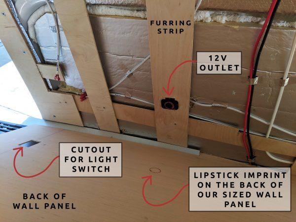 Wall Paneling 12V USB Outlet Camper Van Conversion