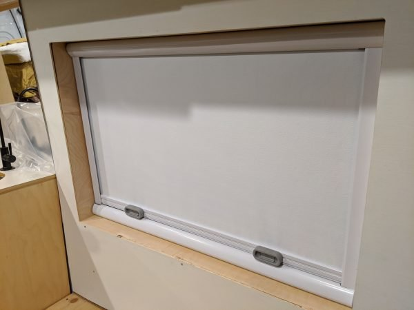 Wall Paneling At Window With Flush Trim Finish DIY Camper Van Conversion