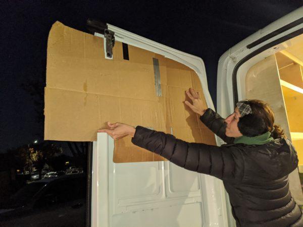 Wall Paneling Back Doors Cardboard Template DIY Camper Van Conversion
