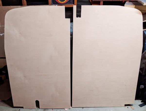 Wall Paneling Back Doors Cut DIY Camper Van Conversion