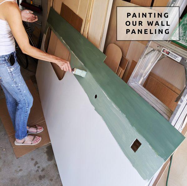 Wall Paneling DIY Painting Camper Van Conversion Sherwin Williams