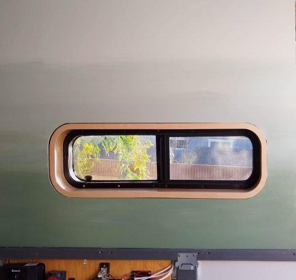 Wall Paneling Painted Wall DIY Camper Van Build Conversion