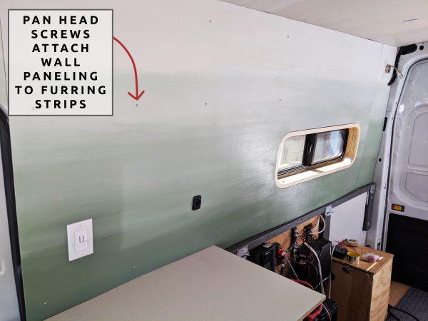 Wall Paneling Pan Head Screw DIY Camper Van Conversion