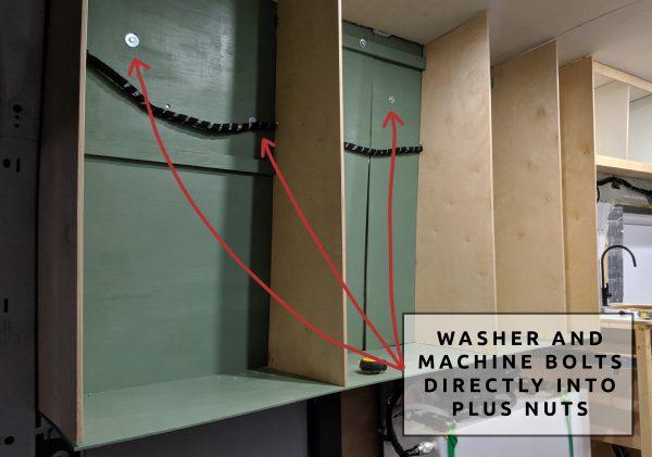 Wall Paneling Plus Nuts in Open Cubbies Camper Van Build Conversion
