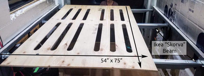 Building Our Removable Bed Frame For Camper Van Conversion