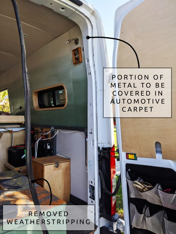 camper van conversion_ automotive carpet installation