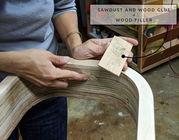 campervan-window-frame-wood-filler